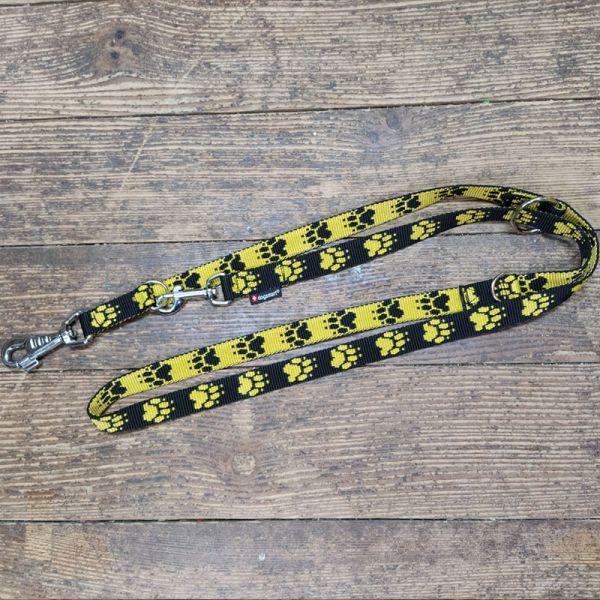 Hundeleine gelb mit Pfoten Swissmade