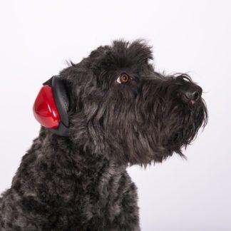 Mutt Muffs Gehörschutz für Hunde rot
