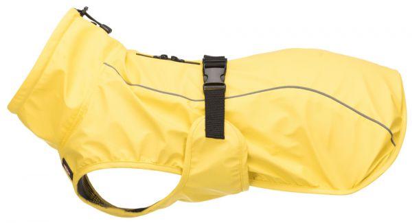 Hunde Regenmantel Vimy gelb mit Geschirranleinschlitz