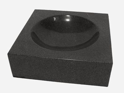 Petraqua-Napf aus Naturstein Padang schwarz