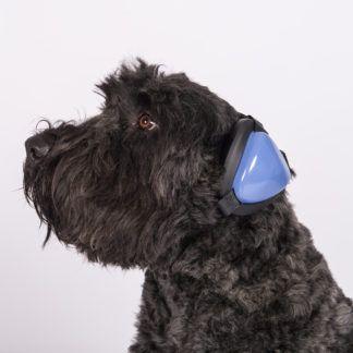 Mutt Muffs Gehörschutz für Hunde blau